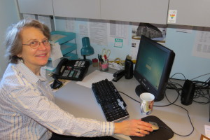 Nancy Gordon at work in her office at BSUC. 2