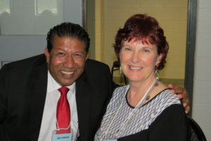 Incoming board member Joseph D'Souza and retiring Office Administrator, Maryanne Atkins.